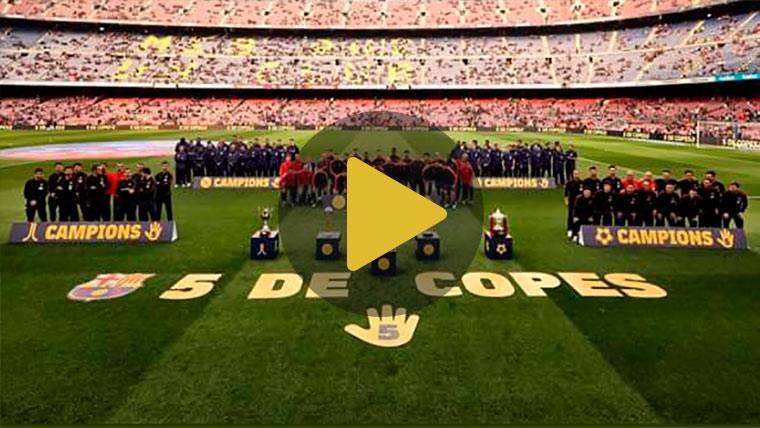 El FC Barcelona ofrece al Camp Nou el 'repóquer' de Copas