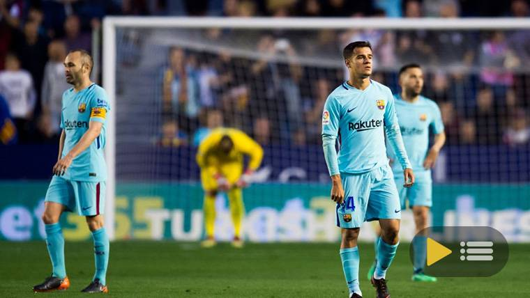 El FC Barcelona, hundido frente al Levante en el Ciutat de València