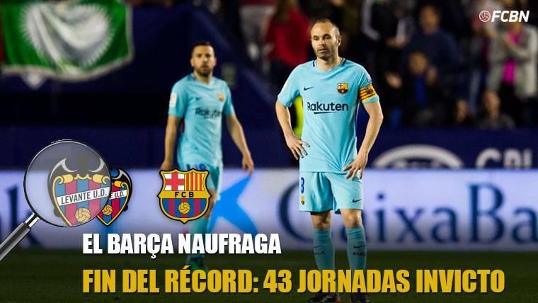 El Barça pone fin a su récord con 43 jornadas de imbatibilidad