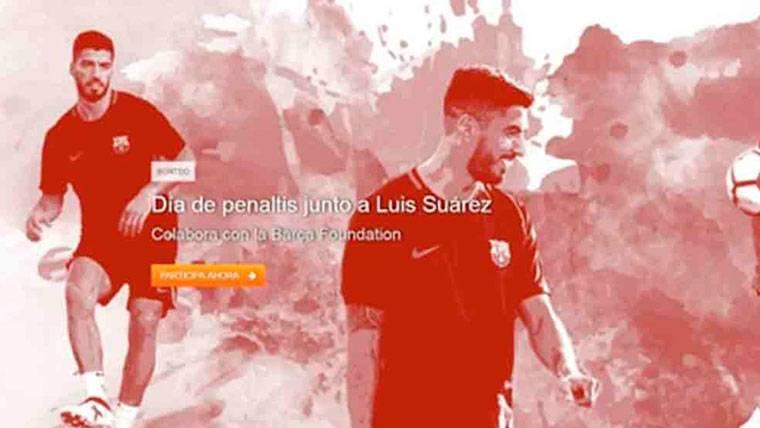 Iniciativa solidaria de Suárez para la Fundación del Barcelona