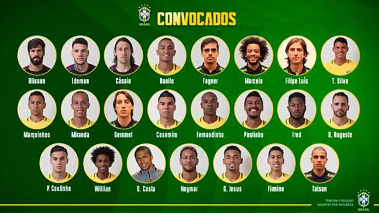 OFICIAL: Arthur, sin Mundial; Coutinho y Paulinho, convocados