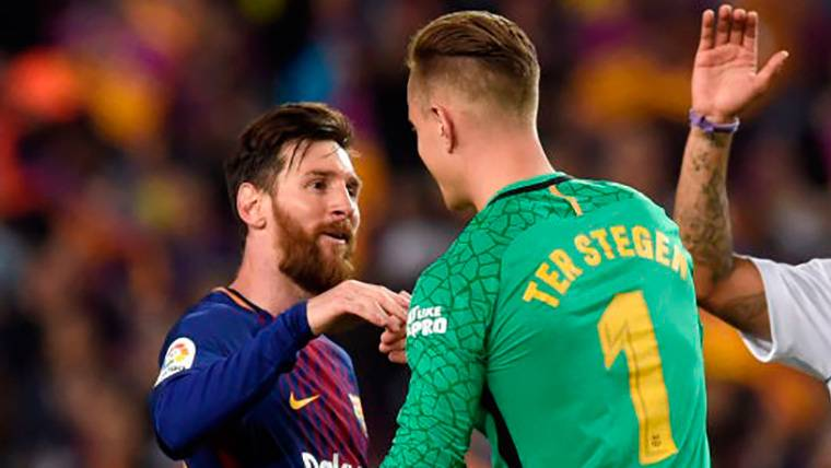 Messi y Ter Stegen, en el once ideal