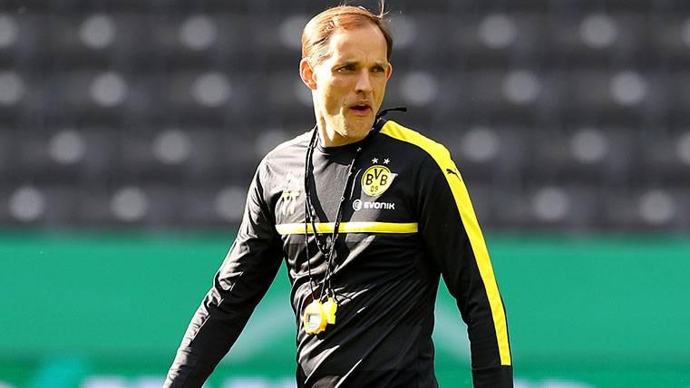 Thomas Tuchel en un entrenamiento del Borussia Dortmund