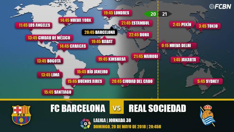 Cuándo y dónde ver el FC Barcelona vs Real Sociedad