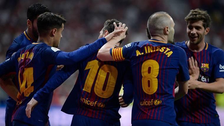Leo Messi reapareció en la victoria del Barça contra Mamelodi Sundowns