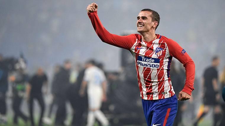 Antoine Griezmann celebra una victoria del Atlético de Madrid