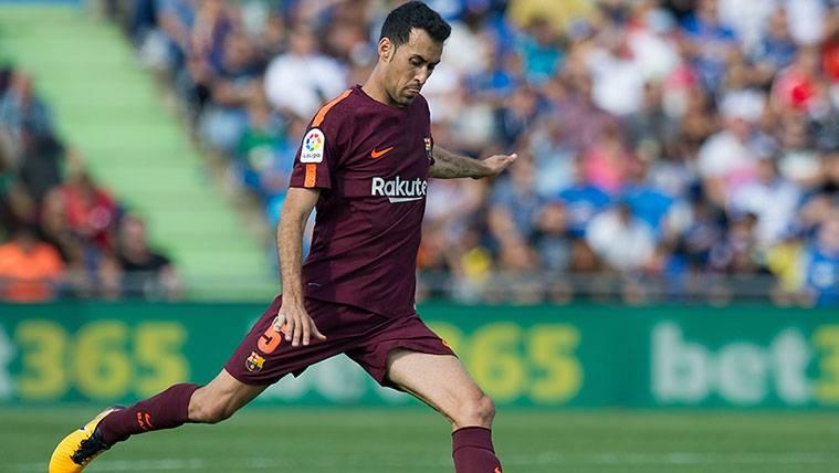 Sergio Busquets en un partido con el FC Barcelona