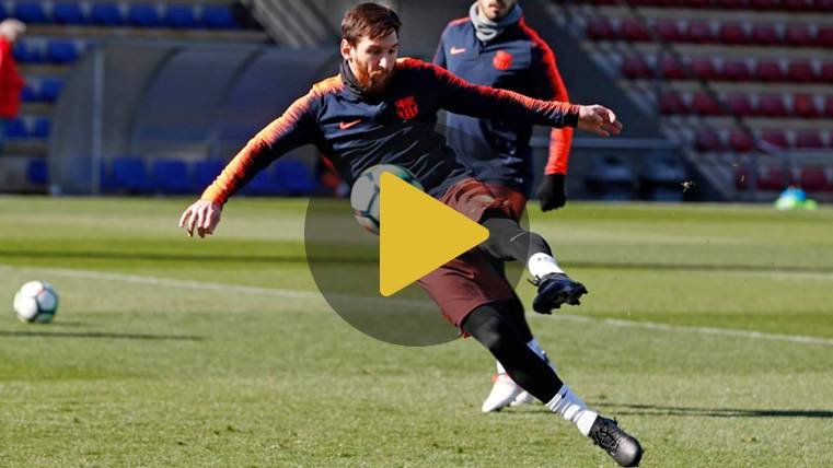 La 'vacilada' de Leo Messi a Jordi Alba en el entreno del Barça