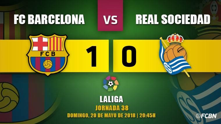 Coutinho decide en la despedida de Iniesta ante la Real Sociedad (1-0)