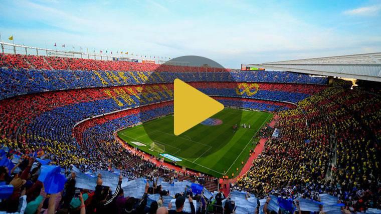 Doble homenaje en el Camp Nou: Mosaico a Iniesta y pasillo de la Real Sociedad