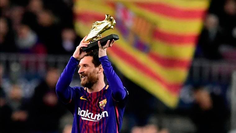 OFICIAL: Leo Messi consigue la Bota de Oro con 34 goles