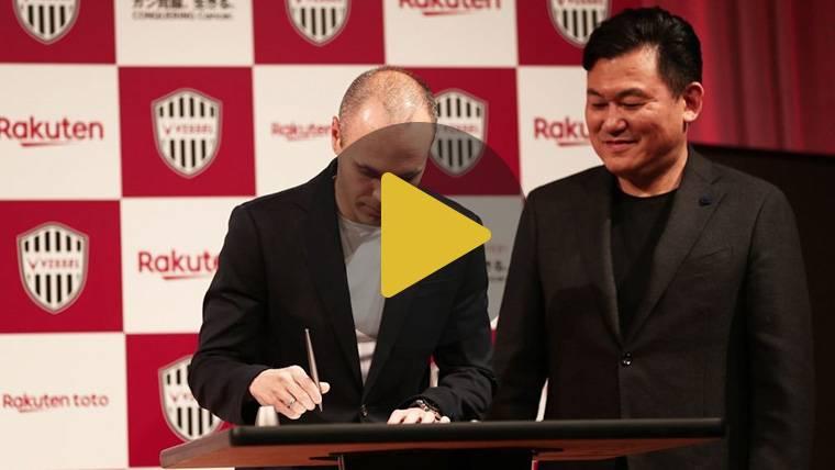 Andrés Iniesta, presentado como nuevo jugador del Vissel Kobe