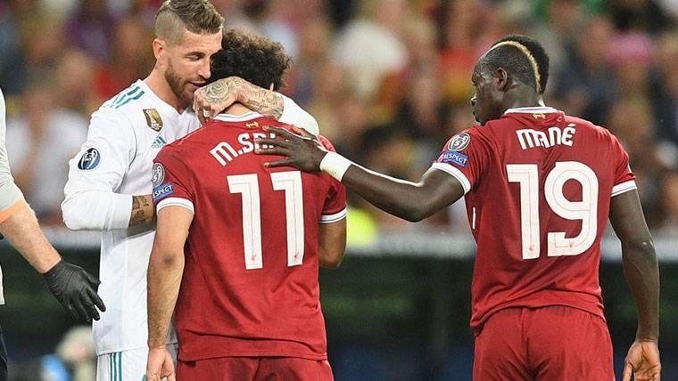 El mensaje de Sergio Ramos a Salah tras lesionarle en Kiev