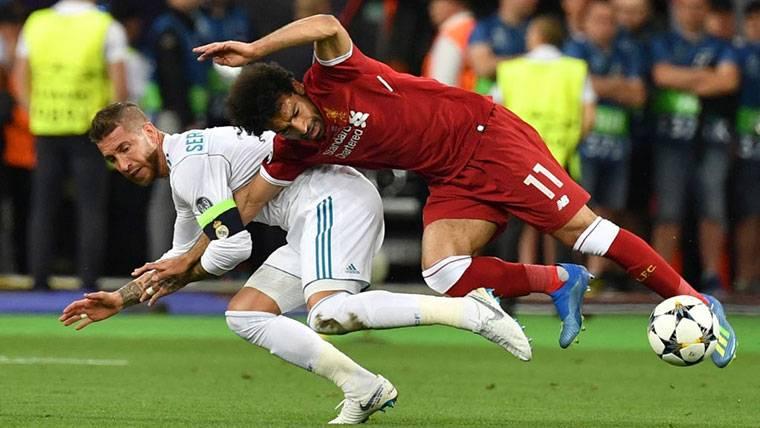 Trágico parte médico de Salah tras la lesión que provocó Ramos