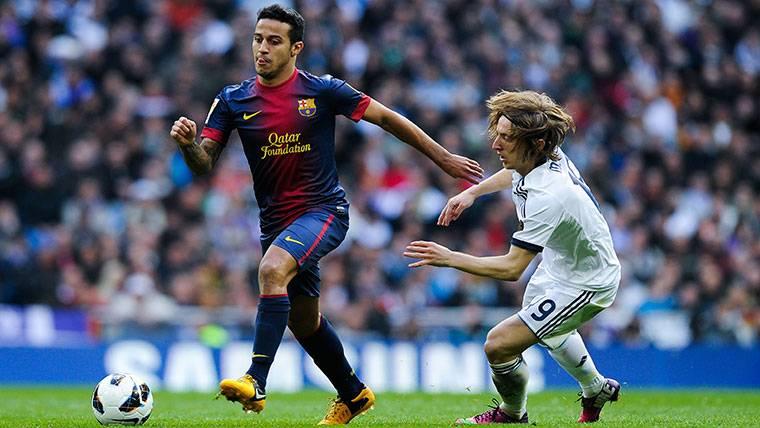 Thiago Alcántara ya dejó entrever en noviembre su posible vuelta al Barcelona