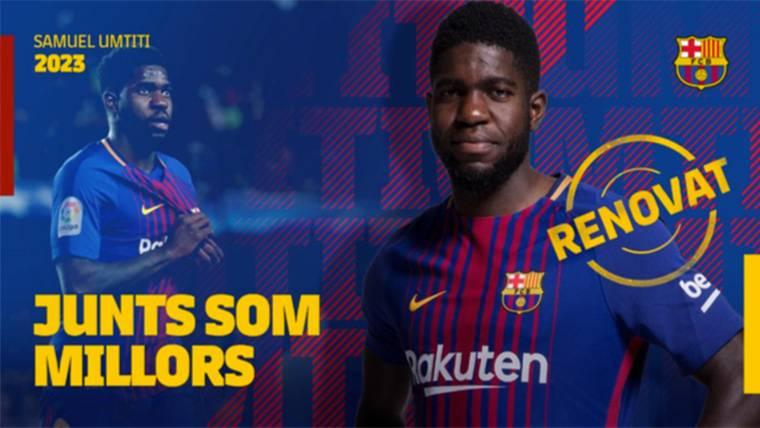 Samuel Umtiti, renovado con el FC Barcelona por cinco temporadas