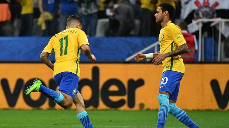 Coutinho y Neymar 'conectan' y deciden el Brasil-Croacia (2-0)