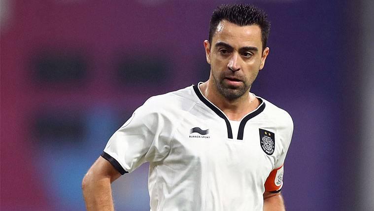 Xavi Hernández en un partido con el Al-Sadd