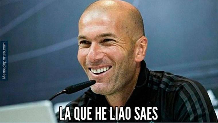 Zidane, uno de los protagonistas de los memes