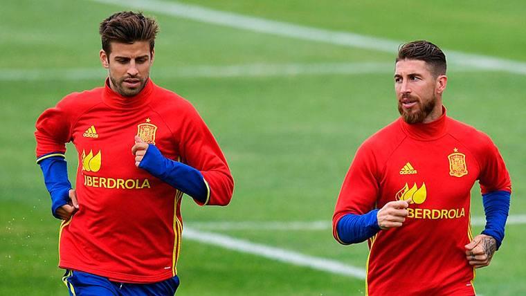 Sergio Ramos y Rubiales se encararon: Piqué les tuvo que separar