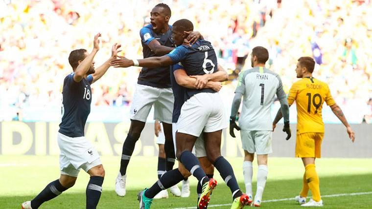 Paul Pogba decidió en la sufrida victoria de Francia