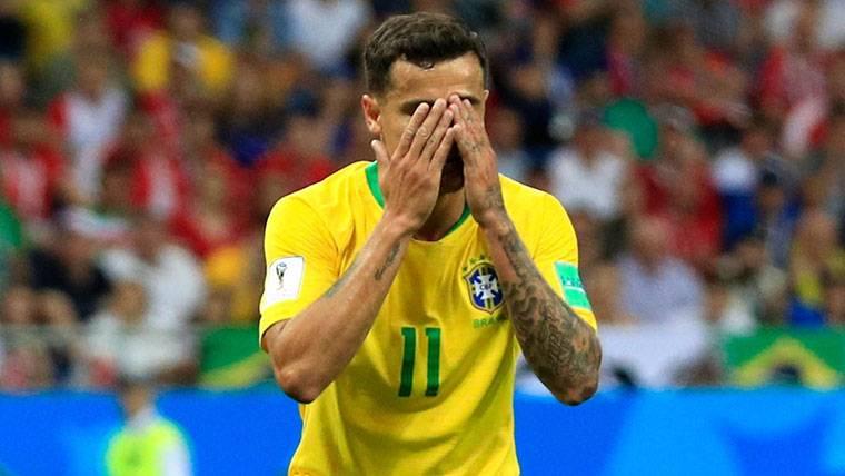 Humildad y protesta de Coutinho tras el empate contra Suiza