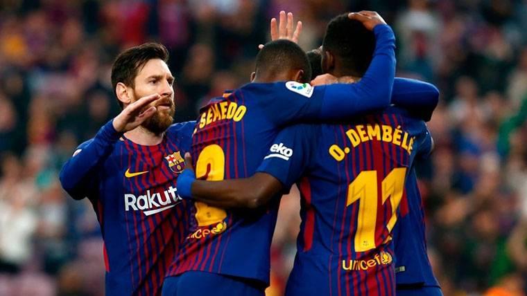 La alineación del Barça 2018-19 con Dembélé como gran 'fichaje'