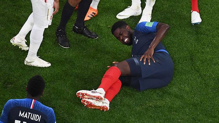 En Francia preocupan los problemas físicos de Samuel Umtiti