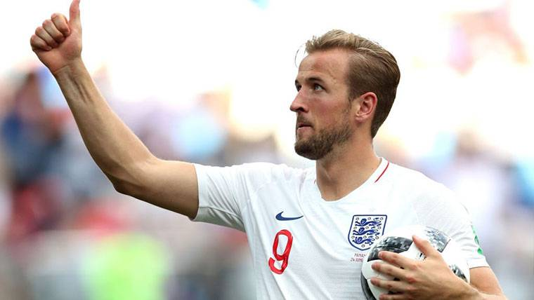 Harry Kane, celebrando uno de los goles marcados contra Panamá