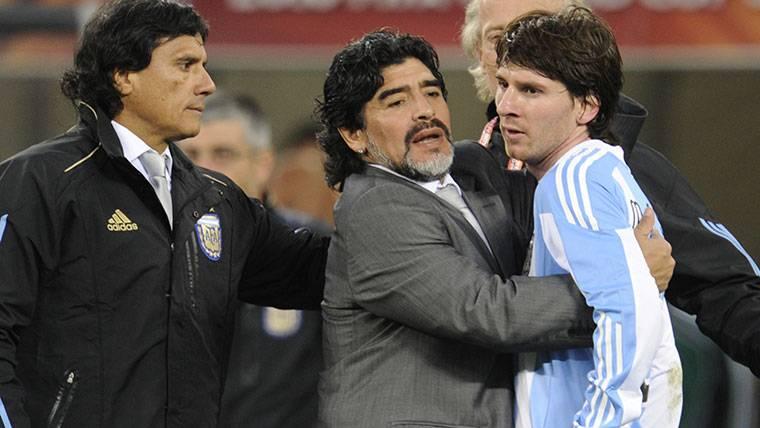 """Maradona manda un mensaje a Messi: """"Te quiero y te respeto"""""""
