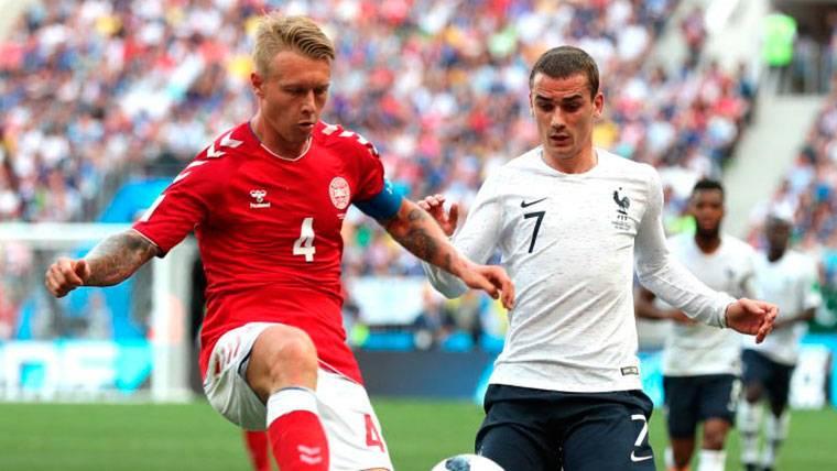 Partido sin intensidad entre Francia y Dinamarca