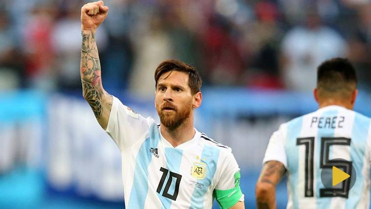 LÍDER: Primer 'MVP' para Messi y brutal arenga a sus compañeros