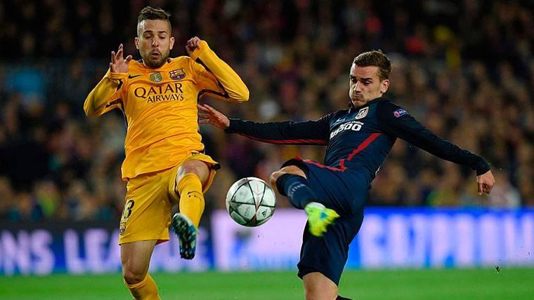 """El 'dardo' de Jordi Alba a Antoine Griezmann por su """"no"""" al Barça"""