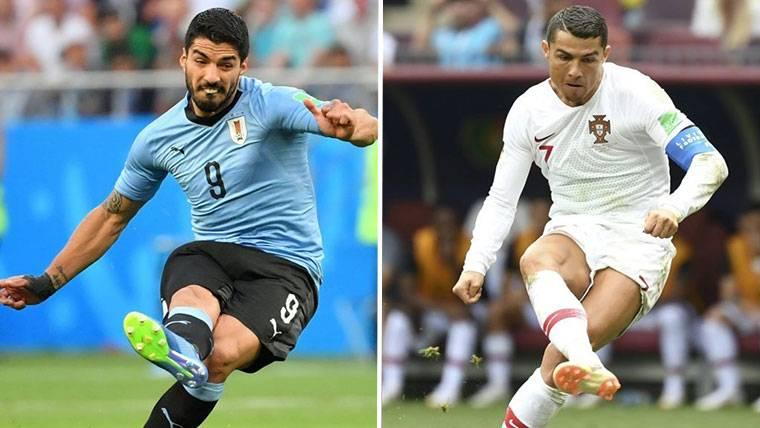 Luis Suárez no tiene la misma rivalidad con Cristiano en el Mundial que en España