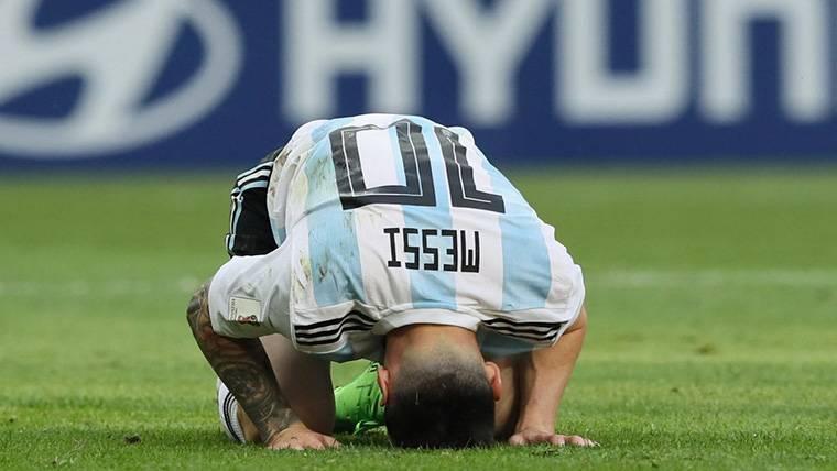 Messi llegó solo a Barcelona