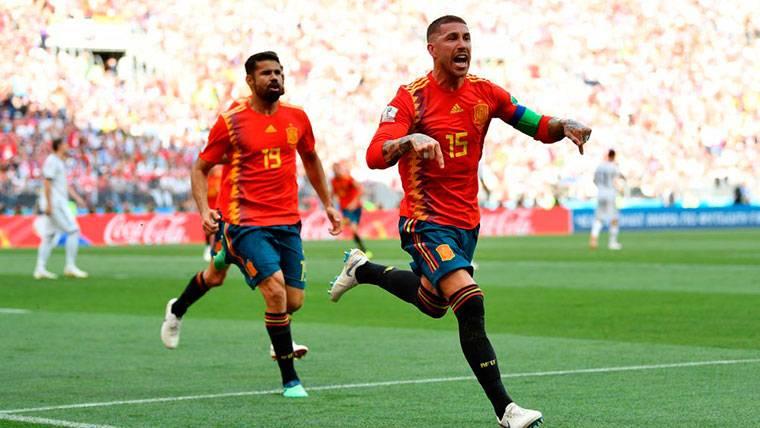 Sergio Ramos se marcó un 'Umtiti' y celebró como suyo un gol en propia