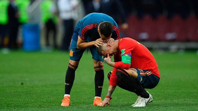 VIRAL: Las lágrimas de Sergio Ramos, trending topic en Inglaterra