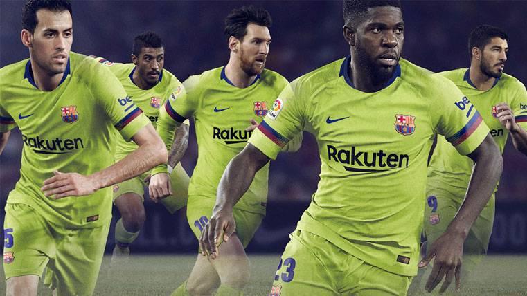 OFICIAL: Así será la segunda equipación del FC Barcelona 2018-19