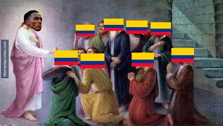 Yerry Mina, protagonista de los memes del Colombia-Inglaterra