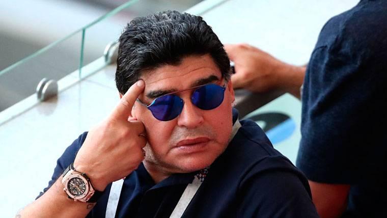 El mensaje de Diego Armando Maradona a Yerry Mina