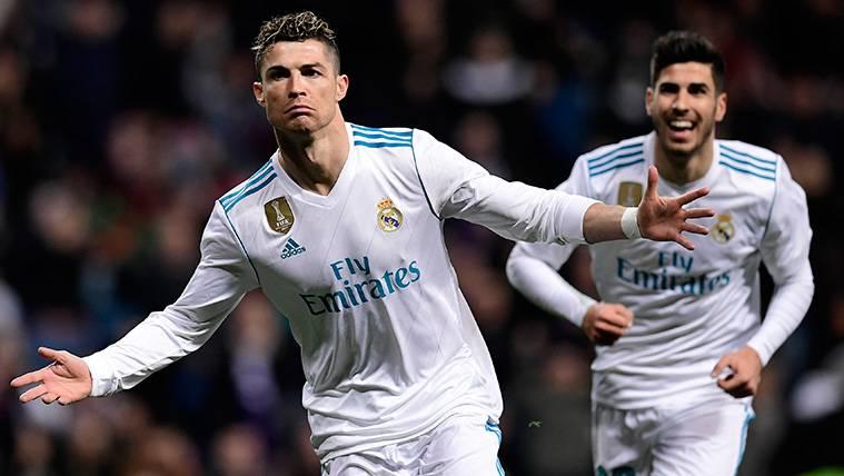 Cristiano Ronaldo celebra un gol del Real Madrid