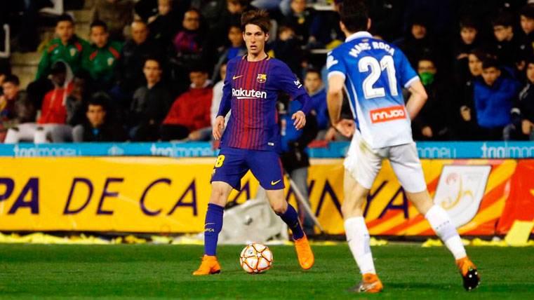 Juan Miranda durante su debut con el primer equipo del Barça | FCB