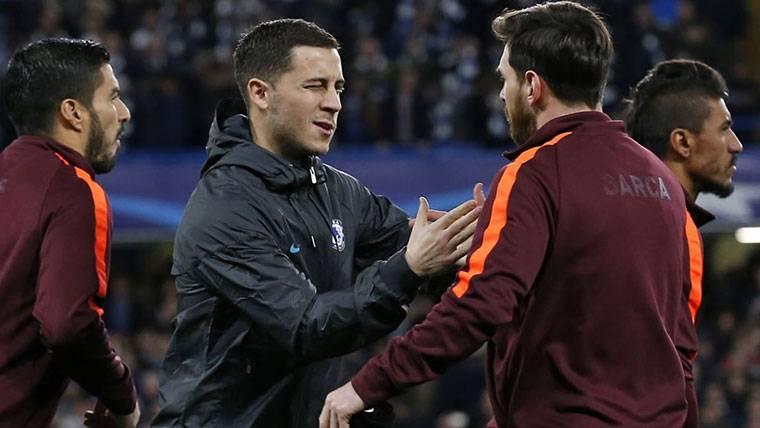 Alineación de lujo para el FC Barcelona si ficha a Eden Hazard