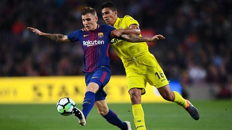 Lucas Digne, durante un encuentro contra el Villarreal