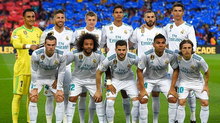 La alineación del Real Madrid en su última visita al Camp Nou