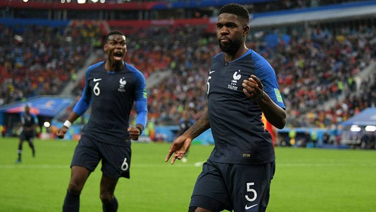 Samuel Umtiti toma la palabra antes de la final del Mundial
