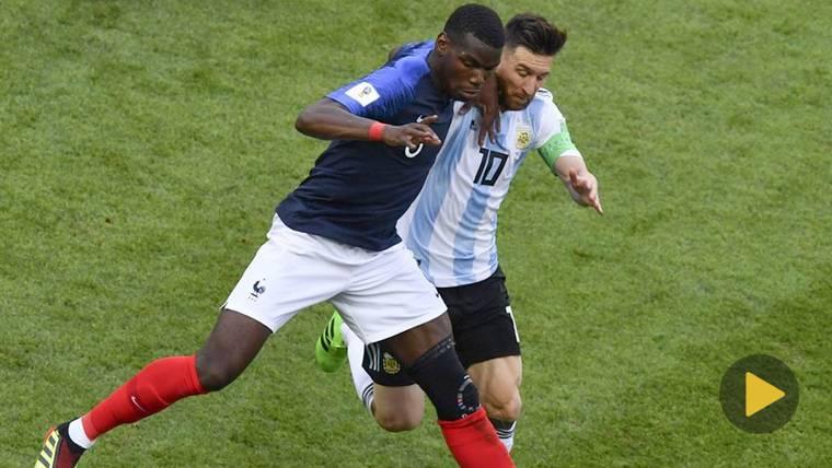 "La arenga de Paul Pogba: ""A Messi me lo paso por las bolas"""