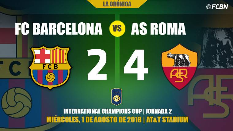 Una Roma muy titular remonta a un Barça plagado de promesas