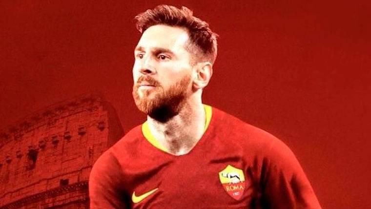 La divertida broma de la Roma anunciando el 'fichaje' de Messi