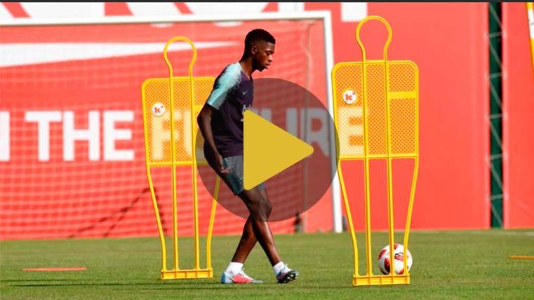 NOVEDAD: Ousmane Dembélé recorta sus vacaciones y ya entrena con el FC Barcelona
